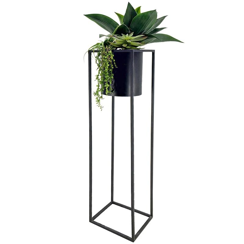 49in. Succulent Black Stand