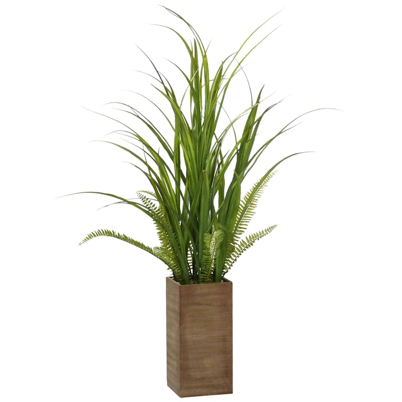 46in. Grass In Wooden Pot