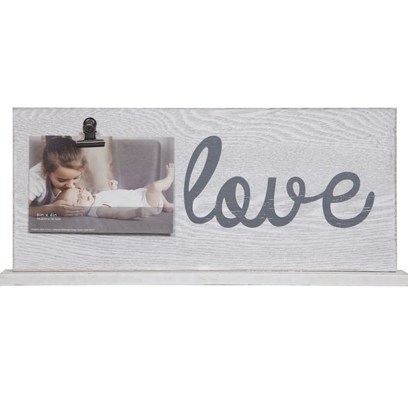 7X16 Love Sentiment And Photo Clip Tabletop