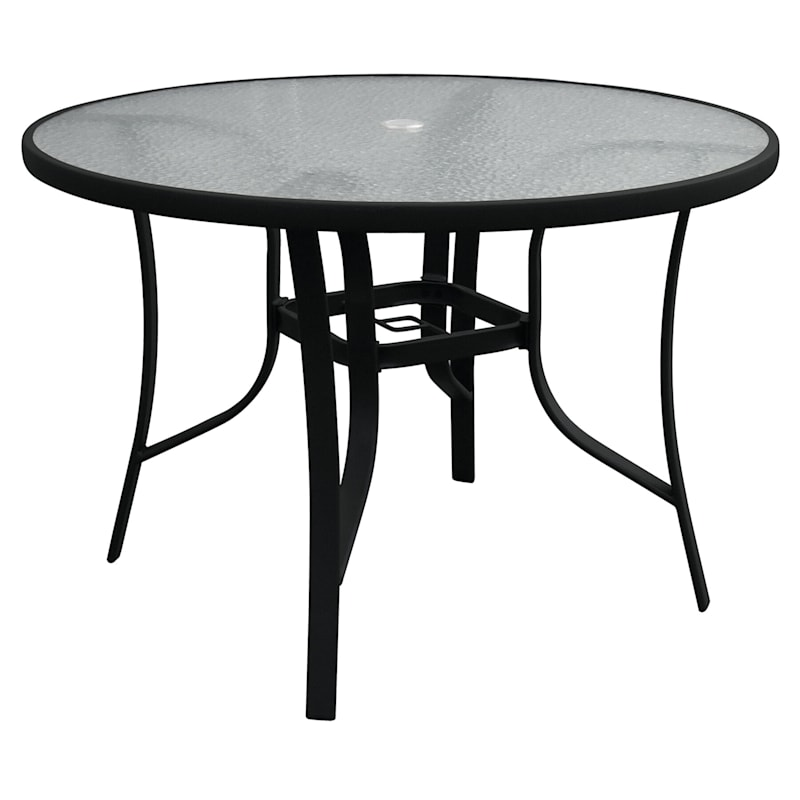 Dining Table Black, 42 Patio Table