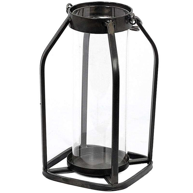 6X11 Black Metal Lantern