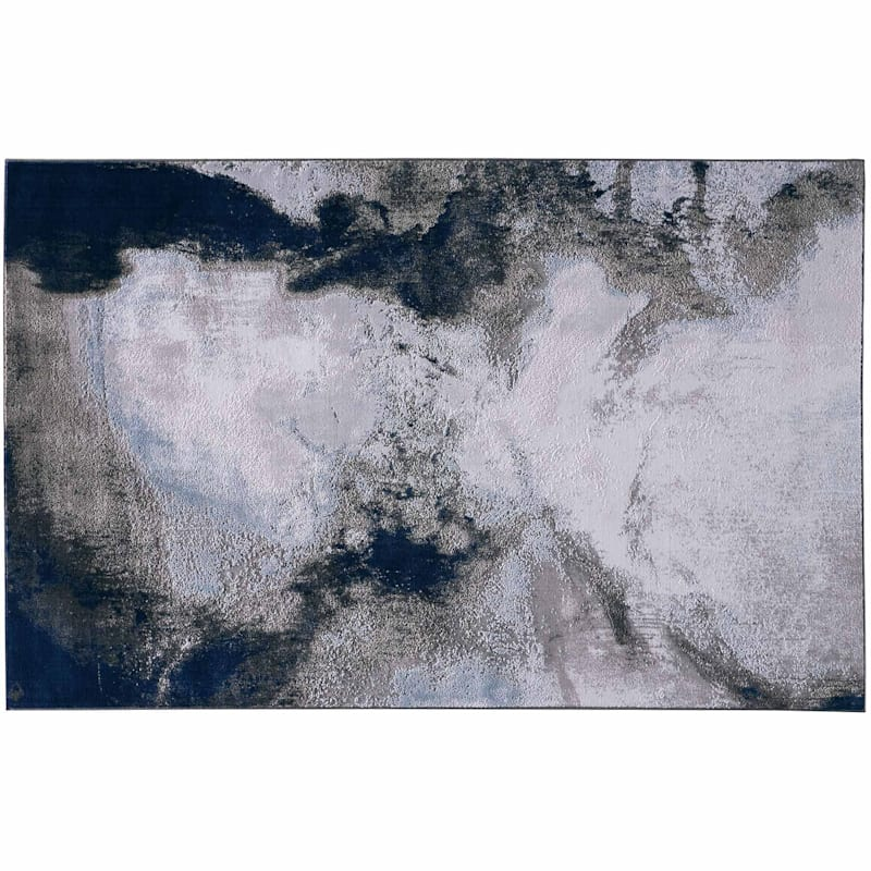 B526 Oasis Blue Contemporary Design Rug 7x10 At Home