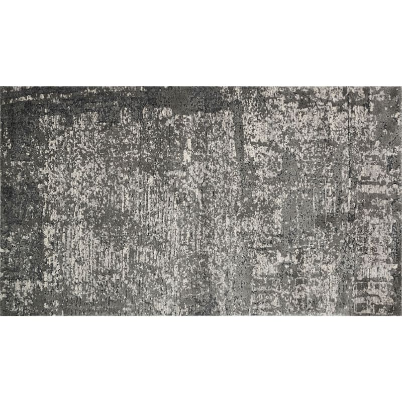 (B528) Holden Abstract Gray Area Rug, 3x5