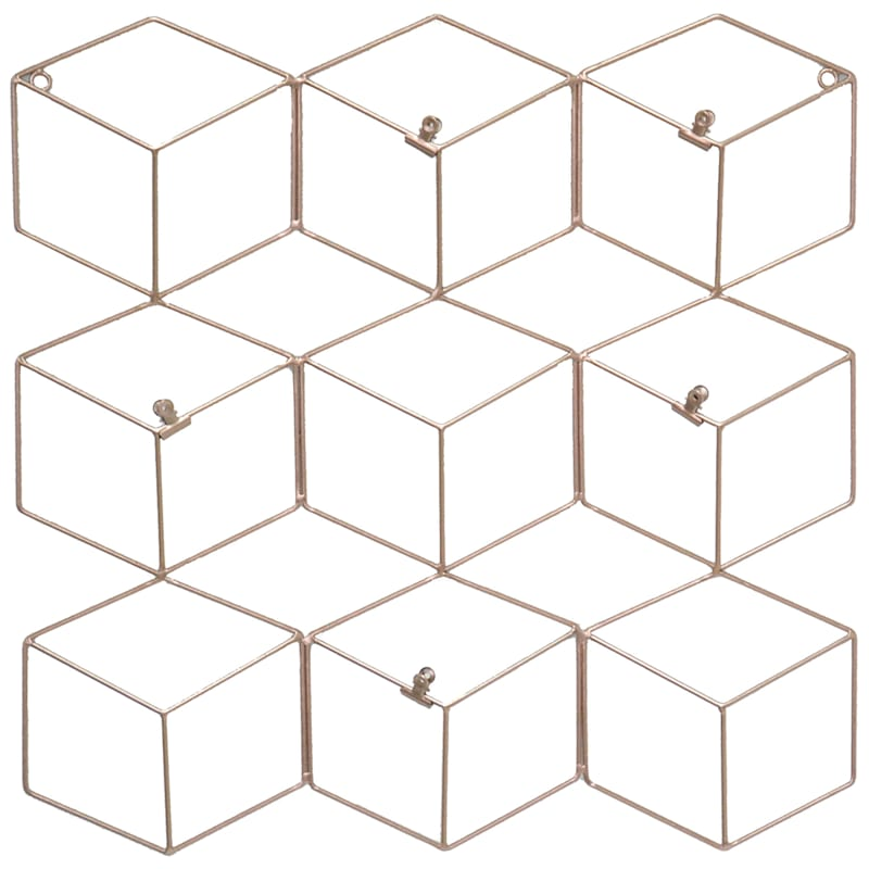 29X19 Metal Gold Geo Hexagon Collage Clip Frame