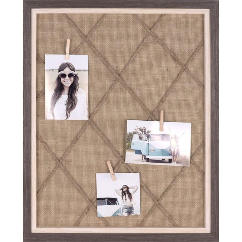 16X20 Woodgrain Photo Collage
