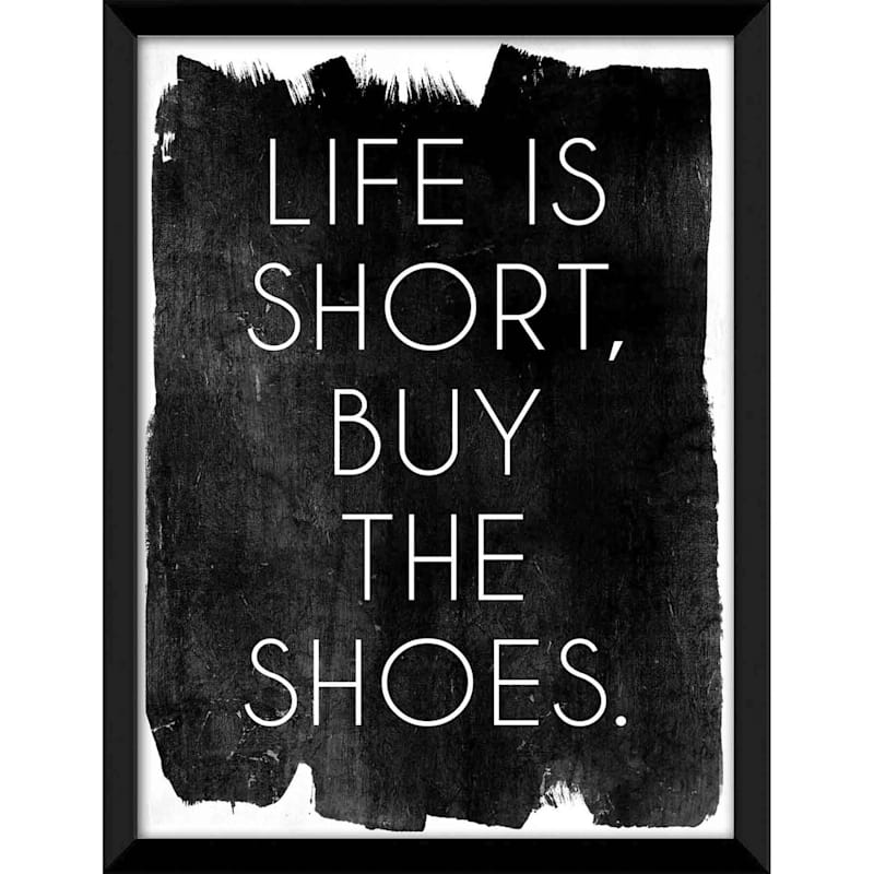 Life Short Shoes Wall Art 12 x 16-in.