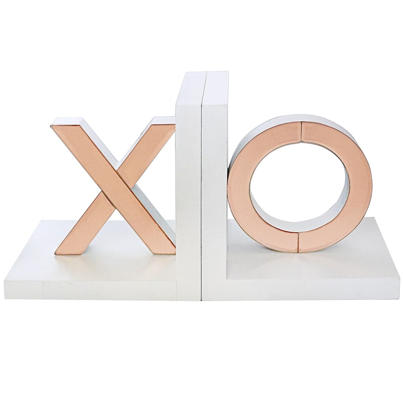 7X4 Rose Gold Xo Bookends