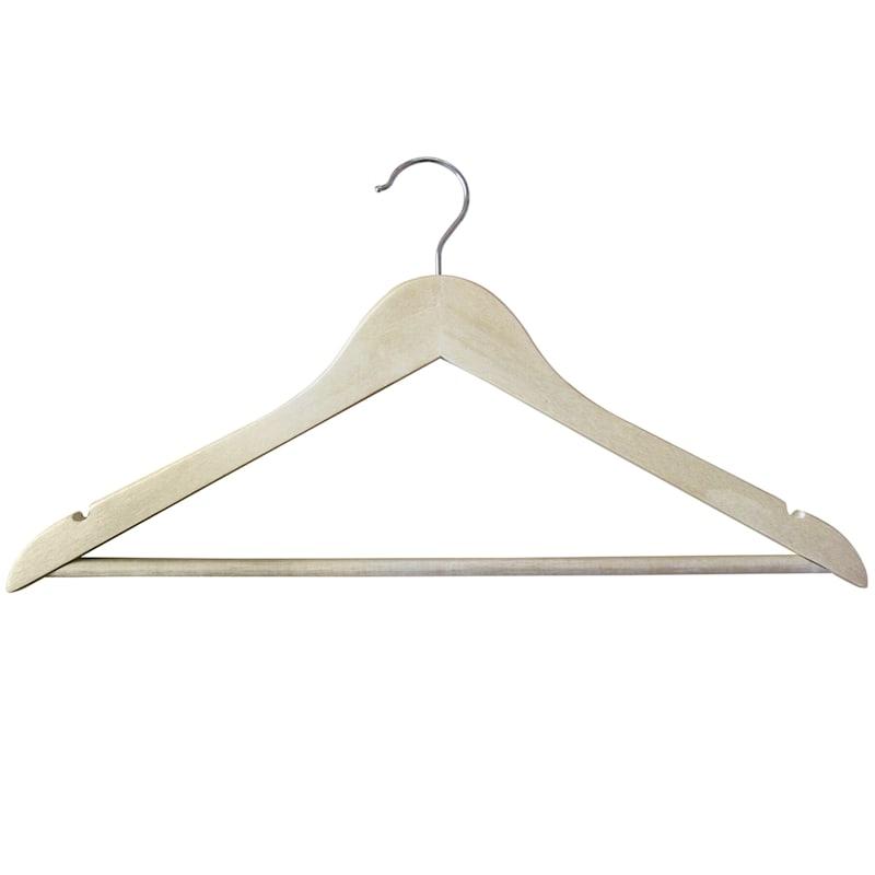 Wood Natural 20 Piece Suit Hanger