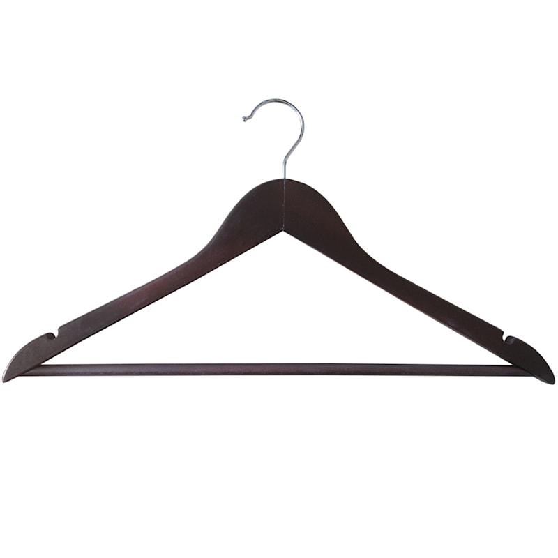 Wood Espresso 20 Piece Suit Hanger