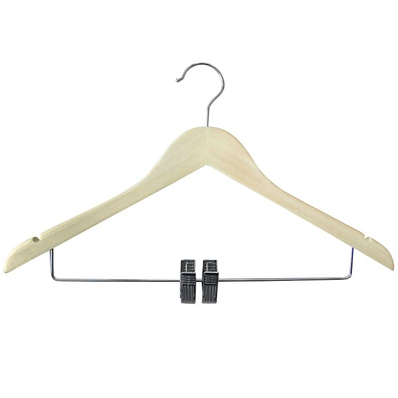 Wood Natural 3-Piece Dress Hanger