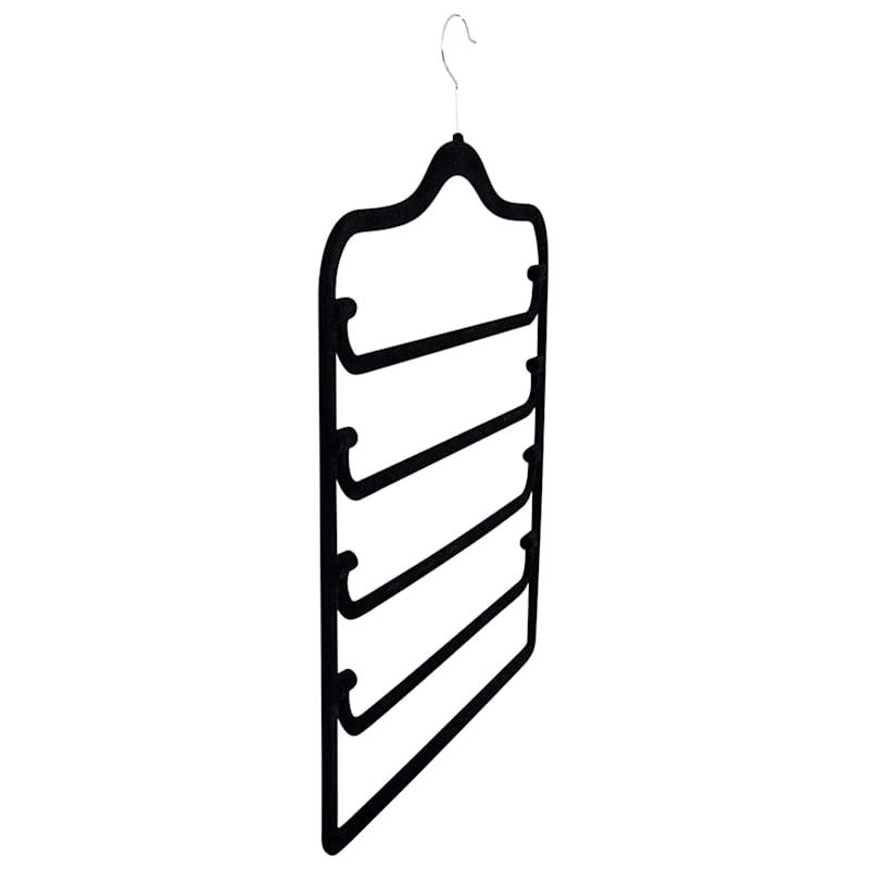 Velvet 4-Tier Black Pant Hanger