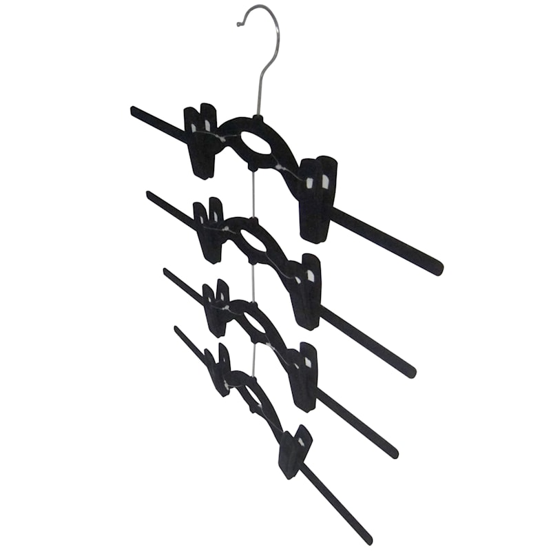 Velvet 4-Tier Black Skirt Hanger