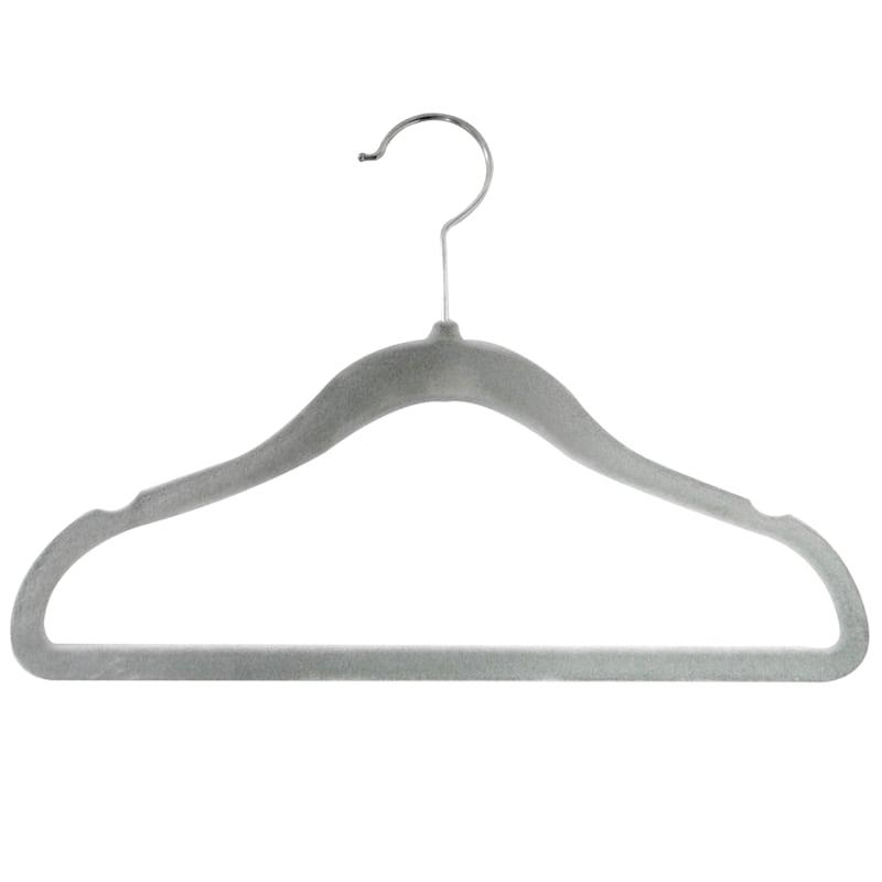Velvet Kids Grey 10 Piece Hanger