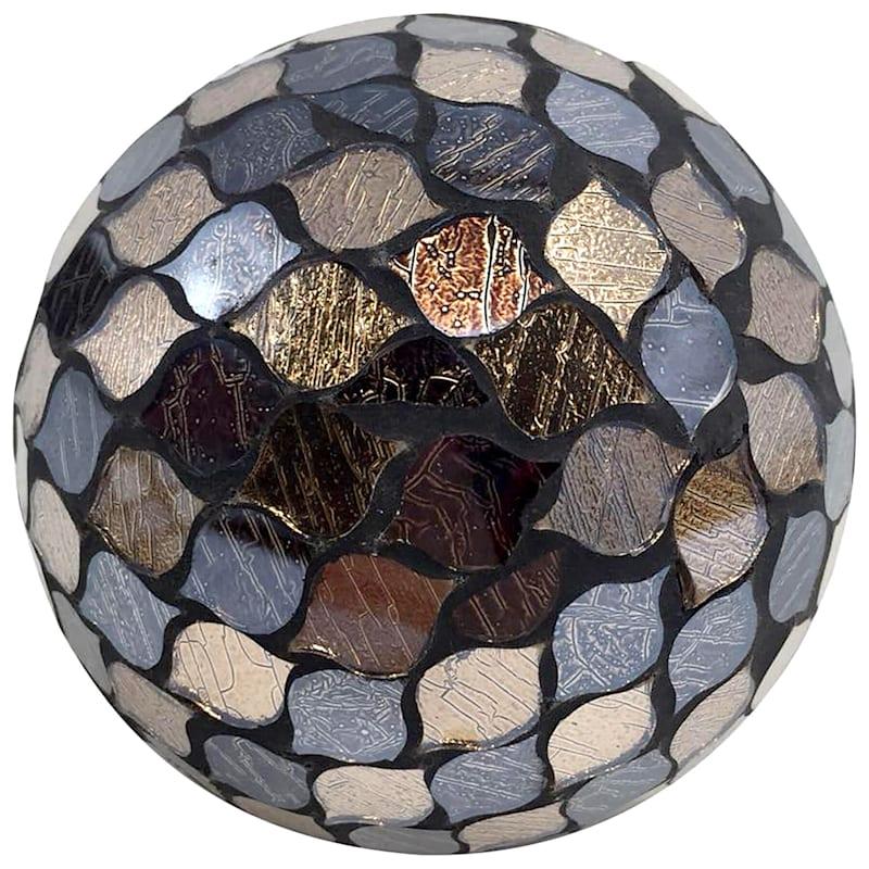 4in. Black Mosaic Orb