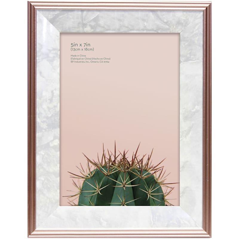 5X7 Foil Rose Gold Tabletop Frame