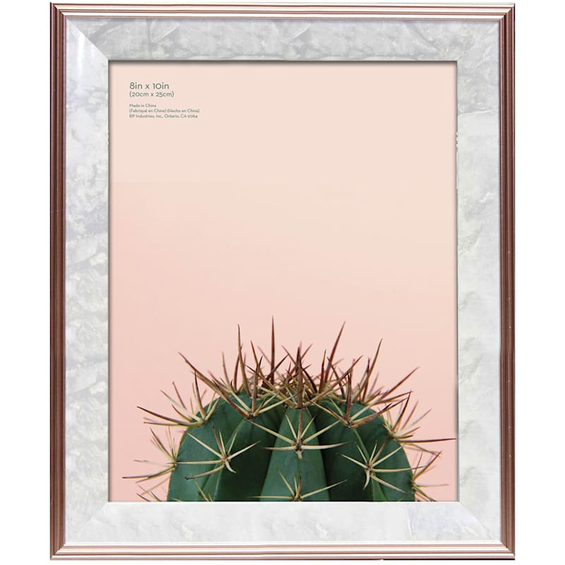 8X10 Foil Rose Gold Tabletop Frame