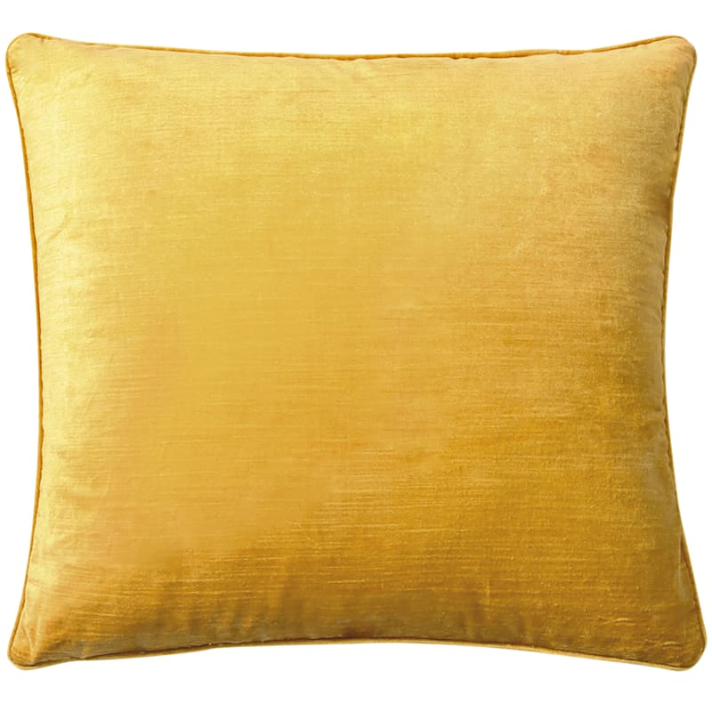 Gillmore Velvet Mustard Throw Pillow
