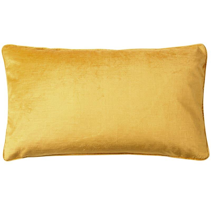 Gillmore Yellow Velvet Decorative Pillow 13X22