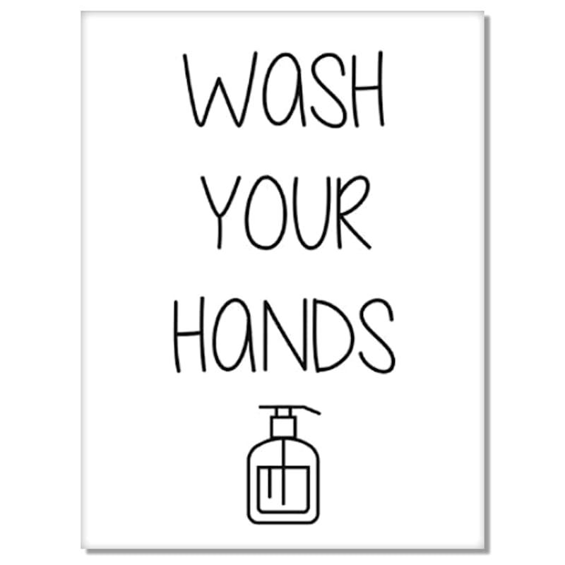 12X16 Wash Your Hands Canvas Art