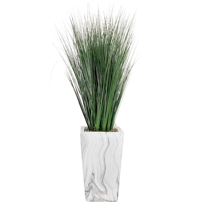 46in. Grass W/Marble Pot