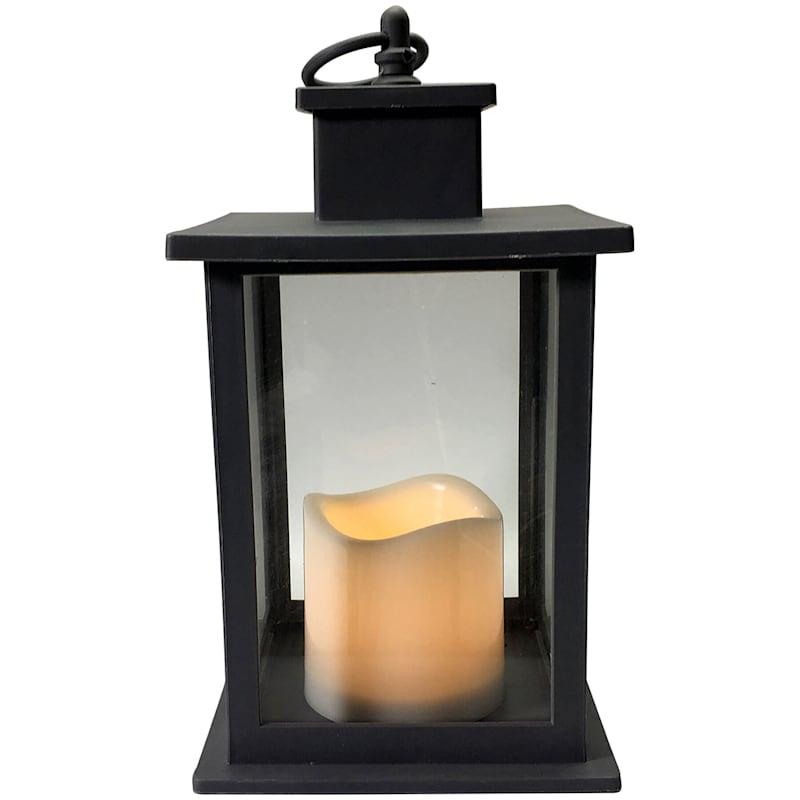 6X10 Led Plastic Lantern With 6 Hour Timer Black