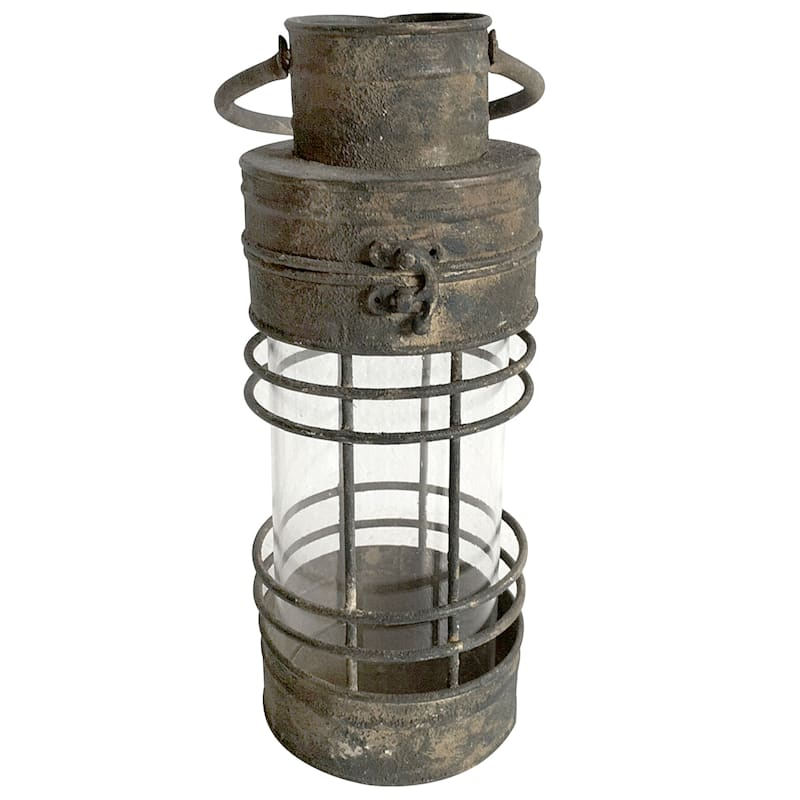 Metal Glass Rustic Lantern