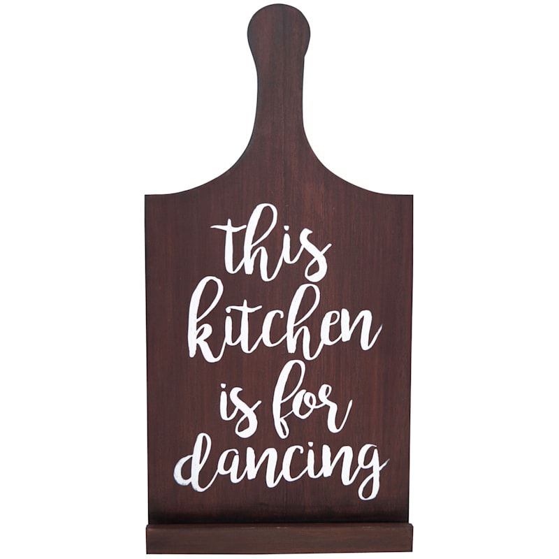 7X15 This Kitchen Is For Dancing Wood Tabletop Tablet Stand