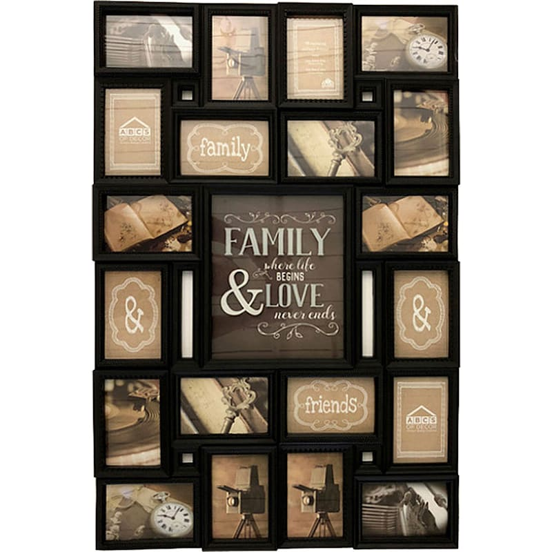 23X35 20-Opening Collage With Shadow Box Center Family And Love