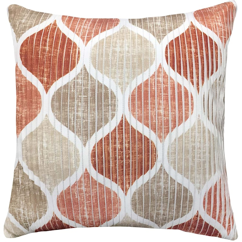 Hollis Spice Pleated Pillow 18X18
