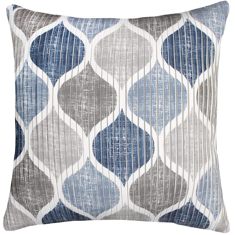 Hollis Indigo Pleated Pillow 18X18