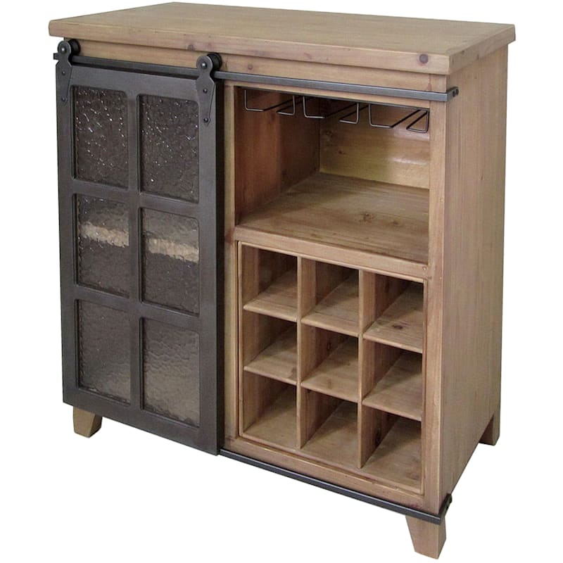 Susan Barn Door Wine Cabinet
