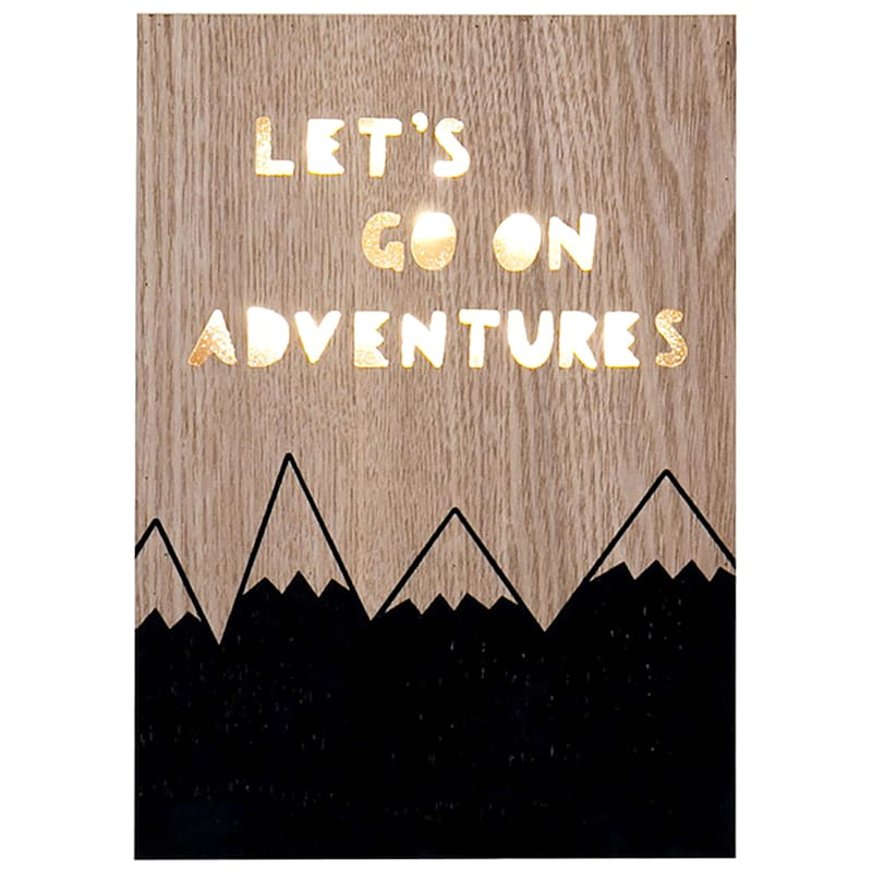 6X8 Lets Go On Adventures Led Sign