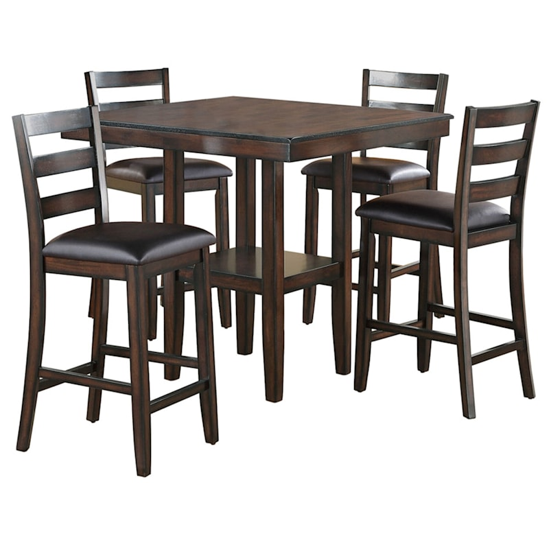 Tahoe 5-Piece Counter Height Dining Set