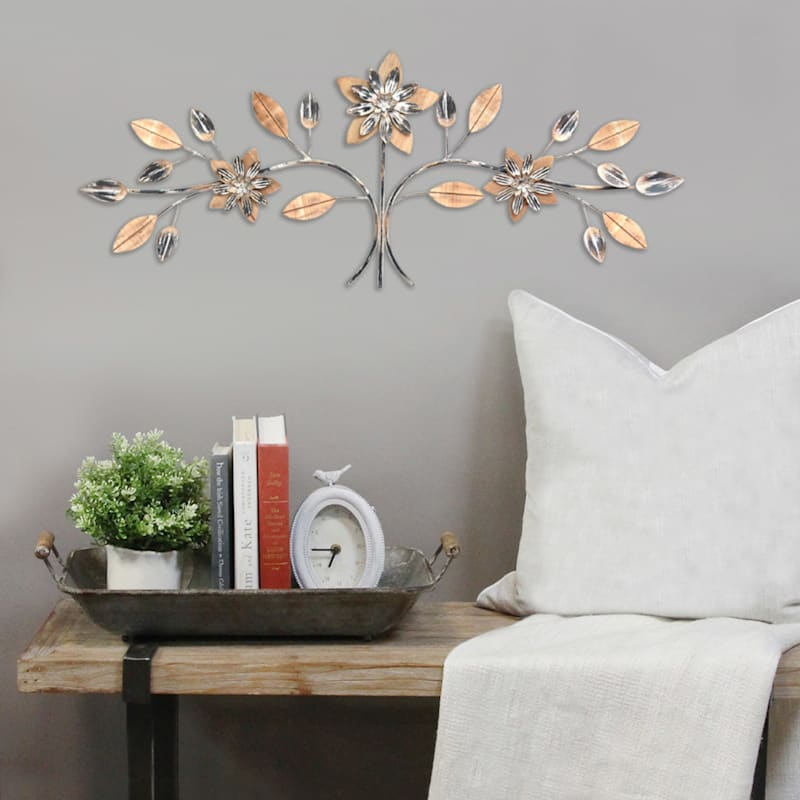 40X15 Floral Over The Door Wall Decor