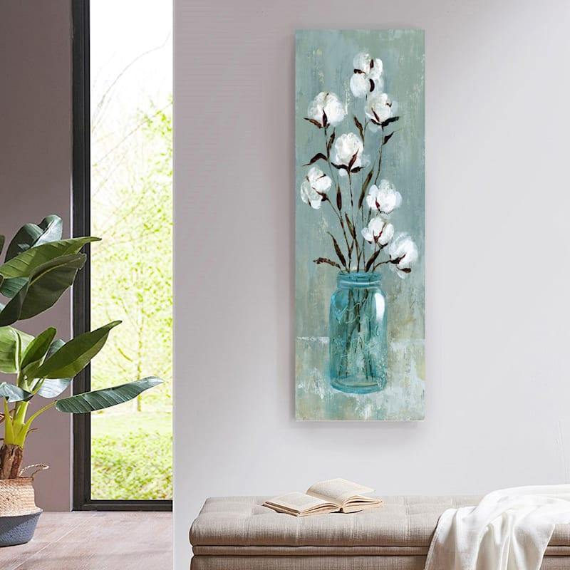 12X36 Stalks Of Cotton I Canvas Art