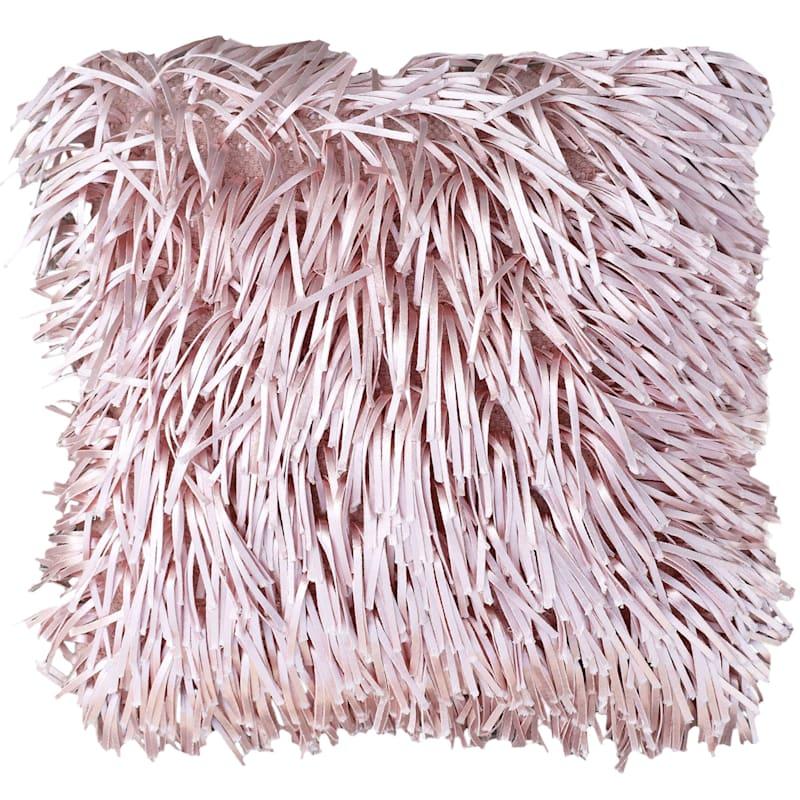 Pink Shag Pillow 18X18