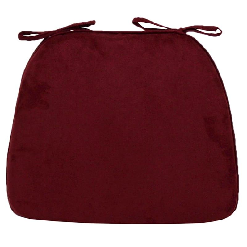 Alexander Plush Foam Chair Pad/Ties Burgundy