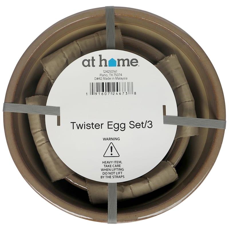 """Ceramic Twister Pot, 14.2"""", Caramel"""