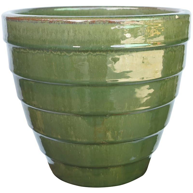 Twister Ceramic Planter Set Of 3 Antique Jade
