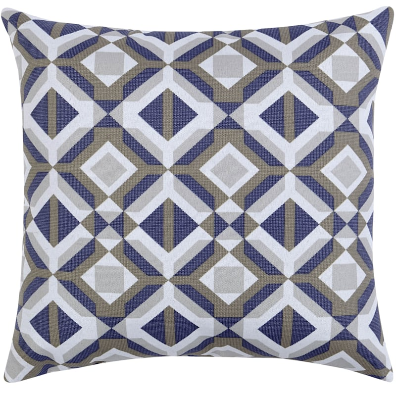 GEO GREY 16IN SQUARE PILLOW