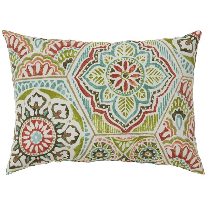 Calista Opal Outdoor Oblong Oblong Pillow, 12x16