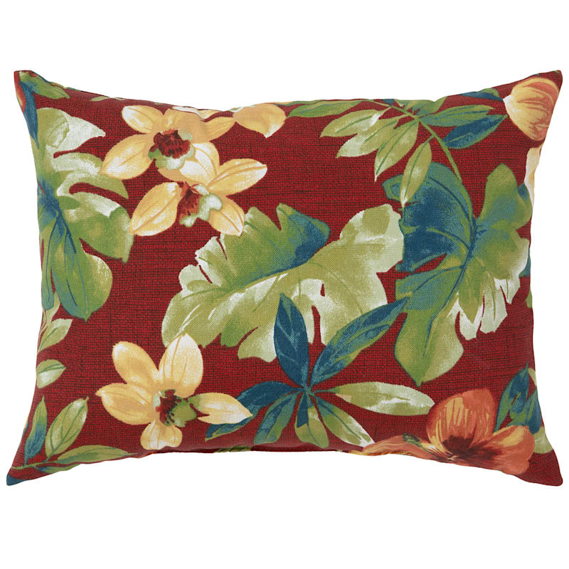 Palani Geranium Outdoor Oblong Pillow, 12x16