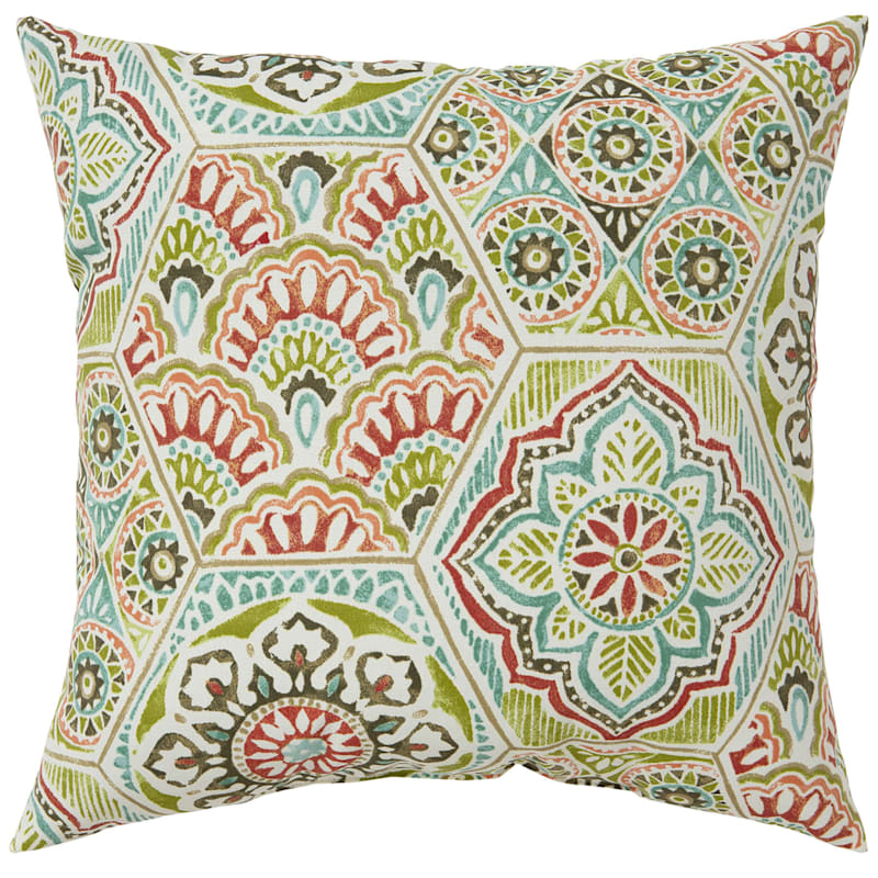 """Calista Opal Outdoor Square Pillow, 20"""""""