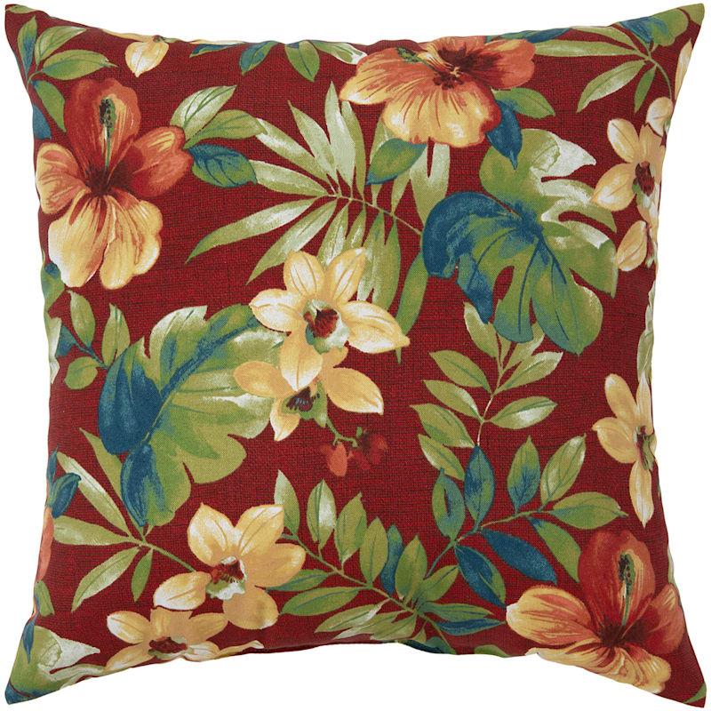 """Palani Geranium Outdoor Square Pillow, 20"""""""