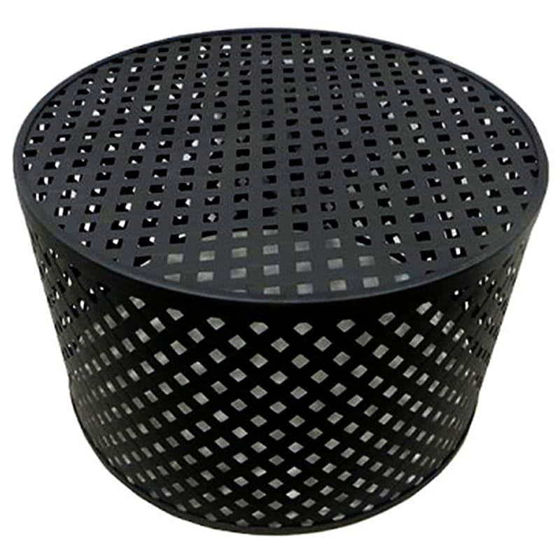 Black Lattice Coffee Table, 27""