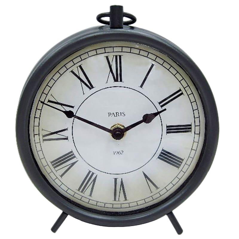 8X6 Metal Dark Grey Clock