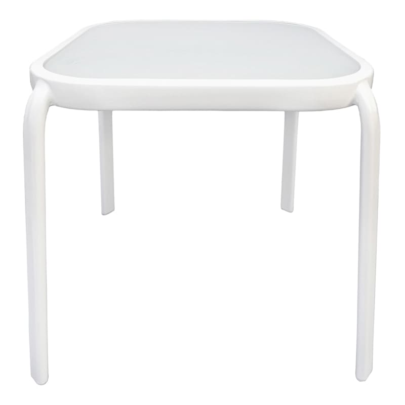 """Steel White Square Outdoor End Table, 16"""""""