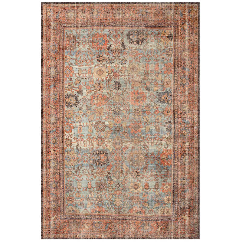 Montebello Distressed Persian Accent Rug With Carpet Backing, 2x6