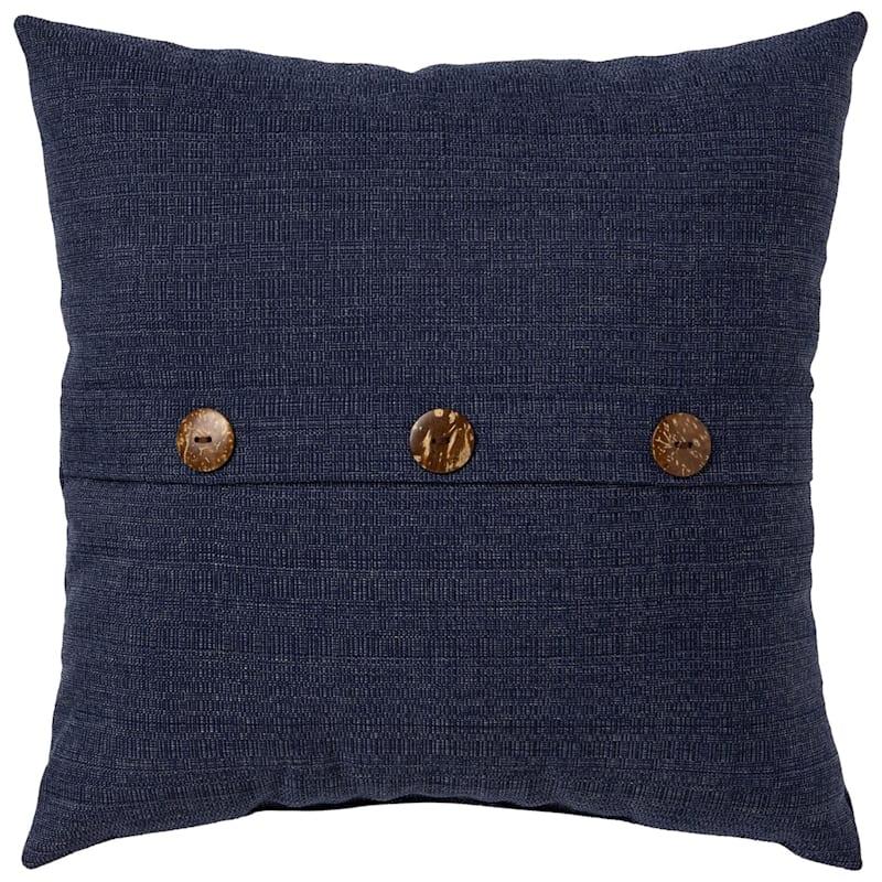 Wheaton Midnight Outdoor Premium 18in Square Button Pillow At Home