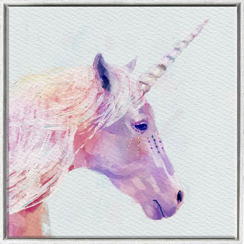 16X16 Unicorn Framed Textured Canvas
